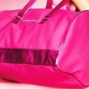 Victoria's secret hot pink  duffle bag